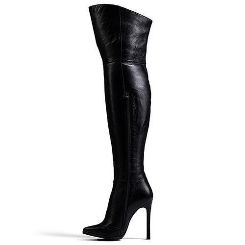 Ботфорты Modus Vivendi черного цвета на шпильке, фото