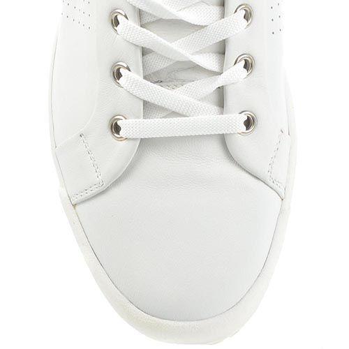 Белые кеды Bikkembergs кожаные с мелкой перфорацией, фото