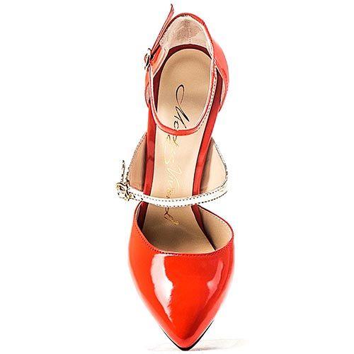 Женские туфли Modus Vivendi красно-золотые на высокой шпильке, фото
