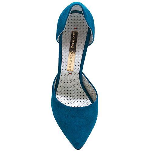 Туфли Modus Vivendi из натуральной замши синего цвета на шпильке, фото
