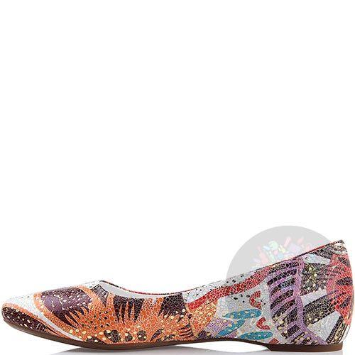 Туфли Modus Vivendi со скрытой танкеткой и цветочным принтом, фото