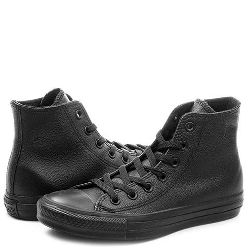 Кеды Converse Chuck Tailor All Star из натуральной кожи черного цвета, фото