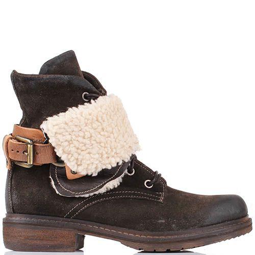 Ботинки Manas светло-коричневого цвета с гранжевым эффектом, фото