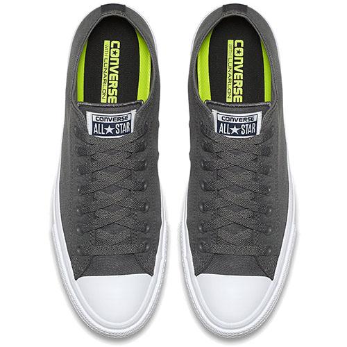 Низкие кеды Converse Chuck II серого цвета, фото