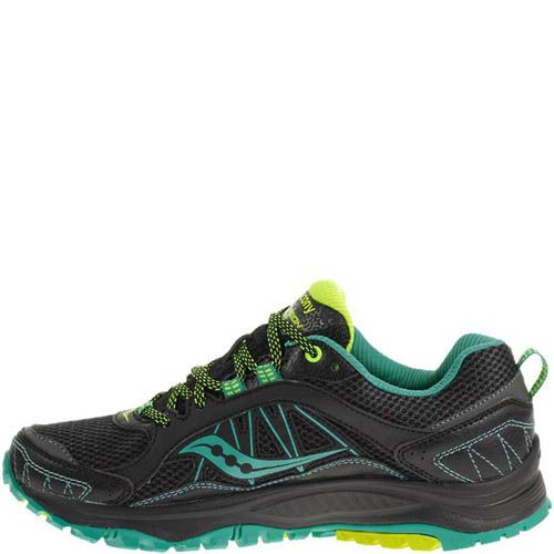 Кроссовки Saucony Grid Excursion Tr9 Gtx Black Teal Citron, фото