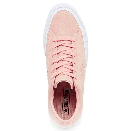 Замшевые кеды Converse розового цвета, фото
