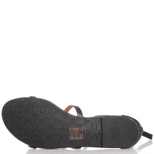 Черные кожаные сандалии Marc by Marc Jacobs с закрытой пяточкой, фото