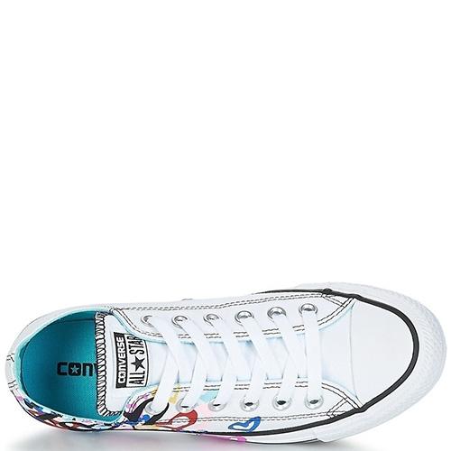 Кеды Converse Chuck Taylor All Star OX белого цвета с рисунком, фото