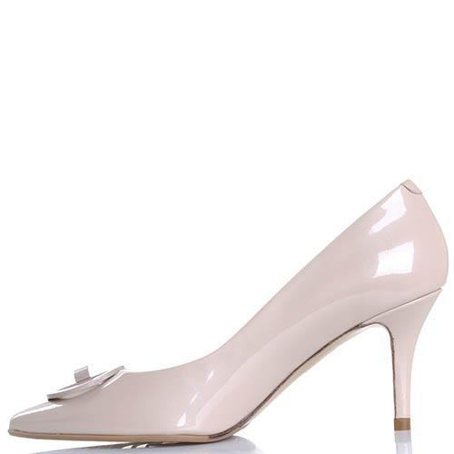 Туфли бежевого цвета Giorgio Fabiani из лаковой кожи, фото