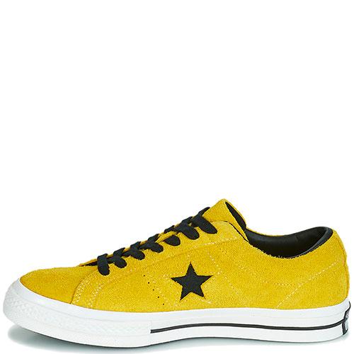 Кеды Converse One Star Dark Star Vintage Suede Low Top желтые, фото