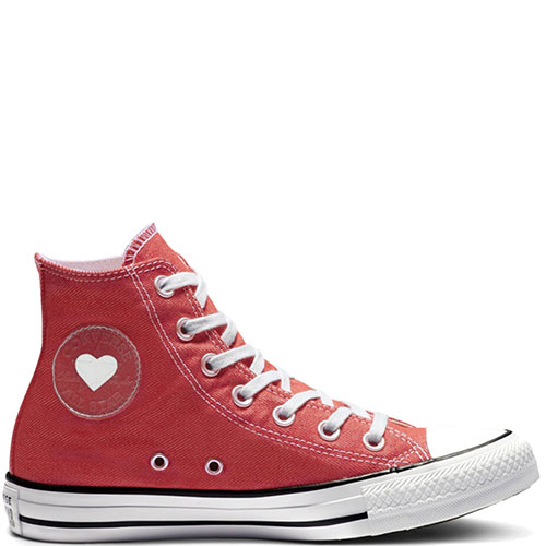 Женские высокие кеды Converse Chuck Taylor All Star Ctas Hi с белым носком, фото