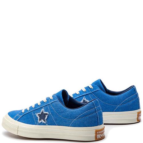 Женские кеды Converse One Star синего цвета, фото
