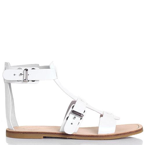Кожаные сандалии Marc by Marc Jacobs белого цвета, фото