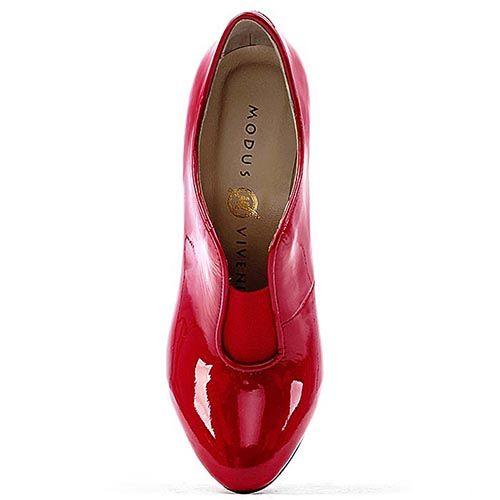 Закрытые туфли Modus Vivendi из насыщенно-красной лаковой кожи, фото