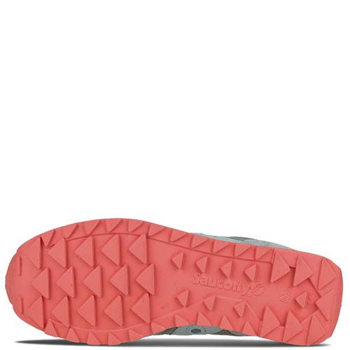 Кроссовки Saucony JAZZ LOWPRO 2016'WA серые с розовой подошвой, фото