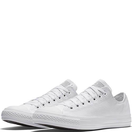 Классические низкие кеды Converse Chuck Taylor All Star Monochrome белого цвета, фото
