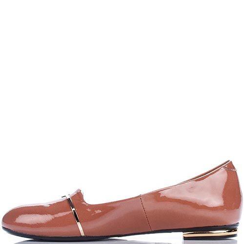 Женские туфли Modus Vivendi из натуральной лаковой кожи коричневого цвета, фото
