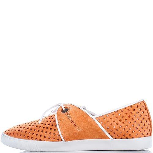 Женские кеды Modus Vivendi оранжевого цвета с перфорацией, фото