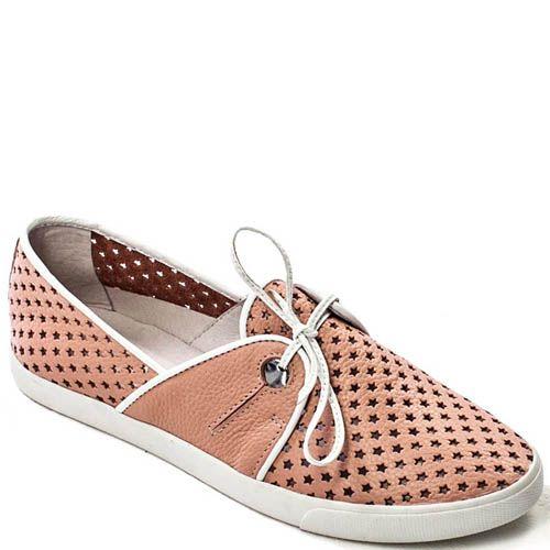 Спортивные туфли Modus Vivendi нежно-розового цвета с перфорацией в виде звездочек, фото