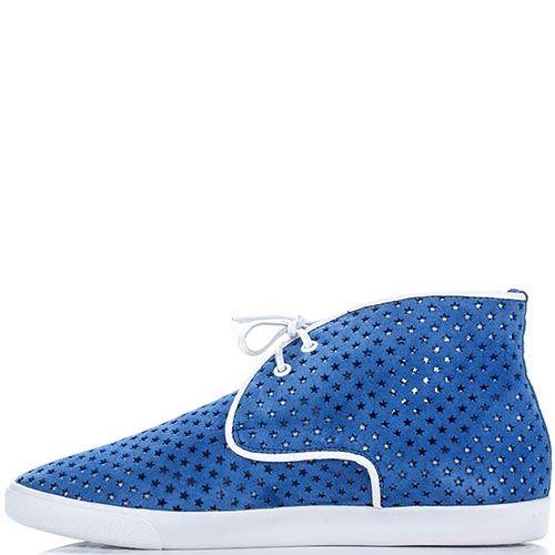 Кожаные дезерты Modus Vivendi ярко-синего цвета, фото