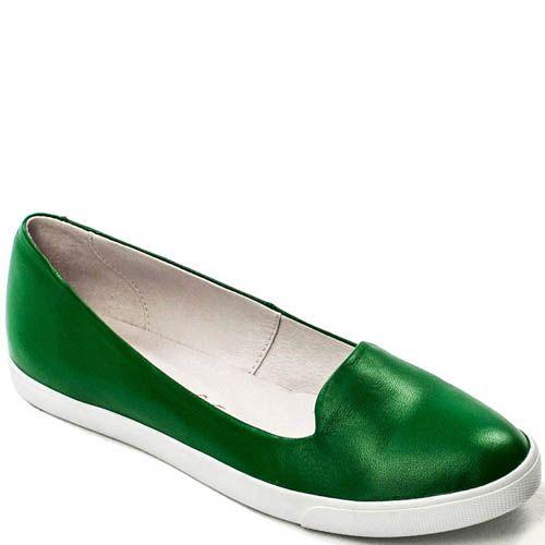 Балетки Modus Vivendi зеленого цвета на толстой подошве, фото