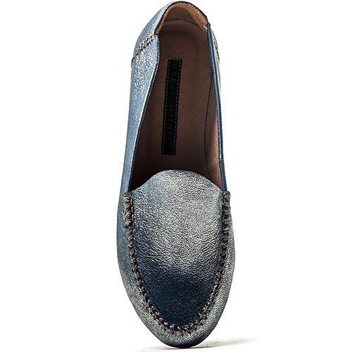 Слиперы Modus Vivendi из серо-синей кожи с перламутром, фото