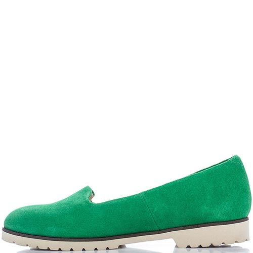 Замшевые слипоны Modus Vivendi ярко-зеленого цвета, фото