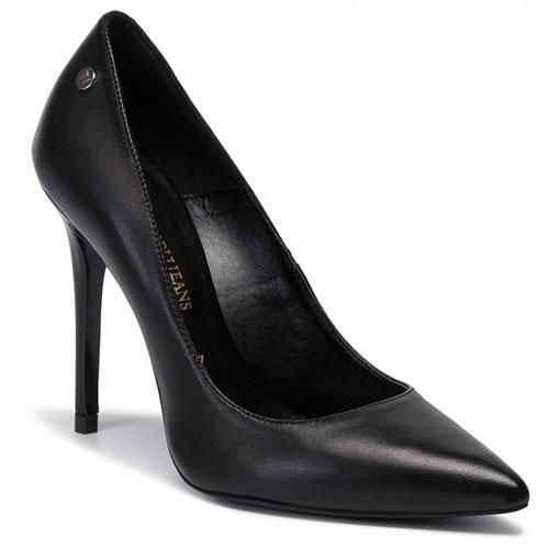 Черные туфли Trussardi Jeans на высоком каблуке, фото
