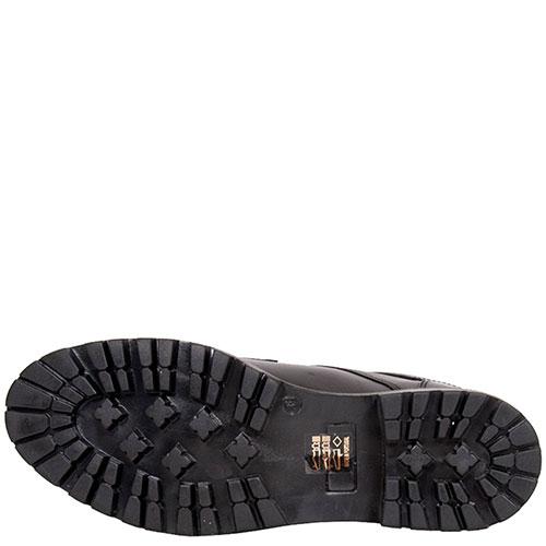 Черные ботинки Trussardi Jeans с декором-ремешком, фото