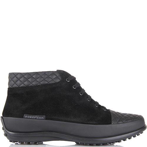 Женские ботинки Pakerson из замши и кожи на термоутеплителе, фото