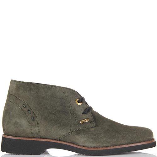 Женские ботинки-дезерты Pakerson замшевые оливкового цвета, фото