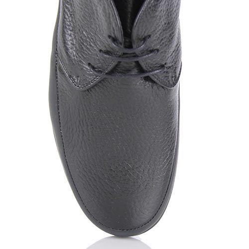Женские туфли Pakerson в спортивном стиле из натуральной кожи черного цвета, фото