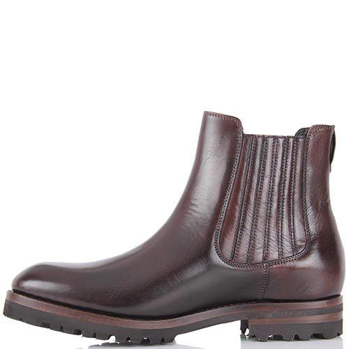 Демисезонные ботинки Pakerson темно-коричневого цвета с круглым носочком, фото