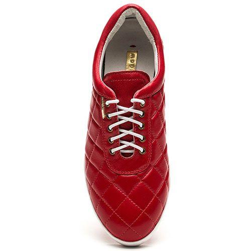 Женские кроссовки Modus Vivendi стеганные красного цвета, фото