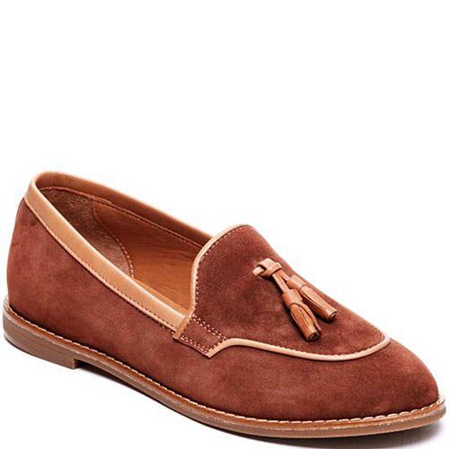 Замшевые лоферы коричневого цвета Modus Vivendi с кисточками, фото