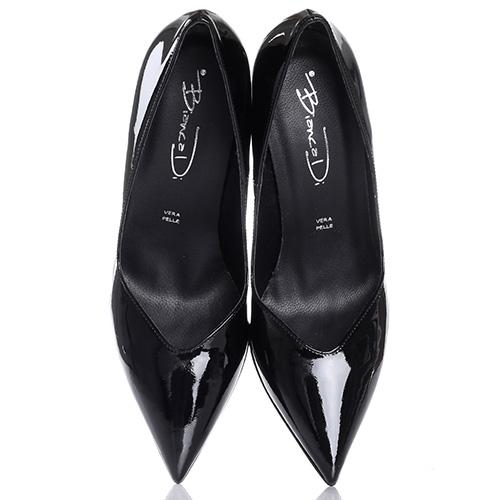 Черные лаковые лодочки Bianca Di на каблуке-рюмочке, фото