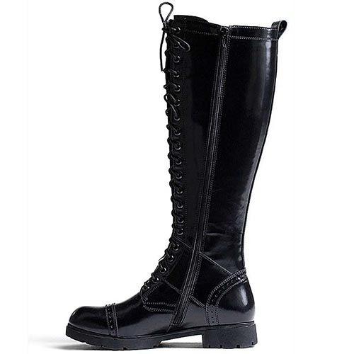 Высокие сапоги Modus Vivendi кожаные на шнуровке, фото