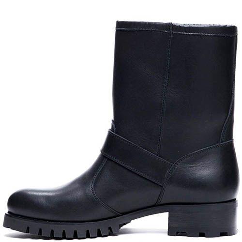 Ботинки из кожи черного цвета Modus Vivendi с вышитым логотипом, фото