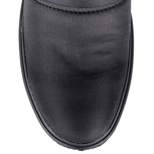 Сапоги-дутики Bressan черного цвета с меховой вставкой по краю, фото