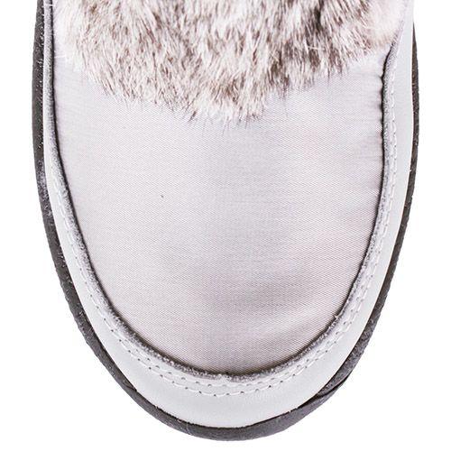 Сапоги-дутики Bogner серебристого цвета с мехом, фото