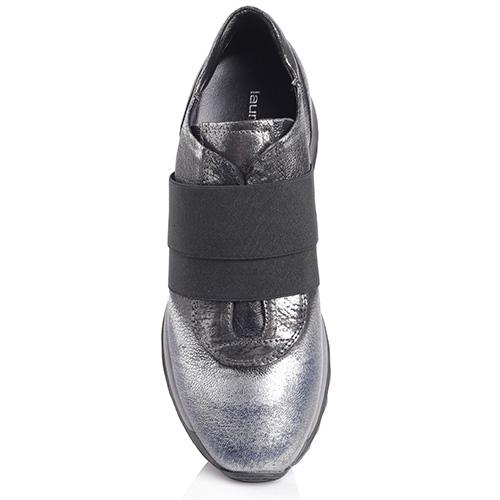 Серебристые кроссовки Laura Bellariva без шнуровки, фото