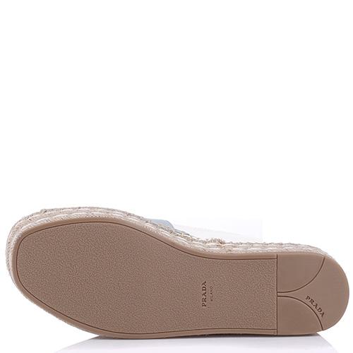 Женские эспадрильи Prada с открытым носком, фото