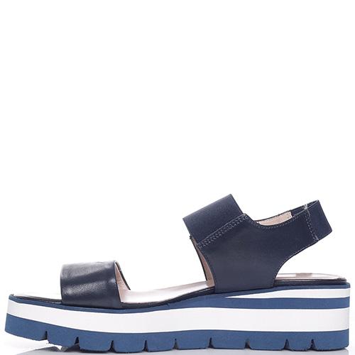 Синие сандалии Luca Grossi на резинке, фото