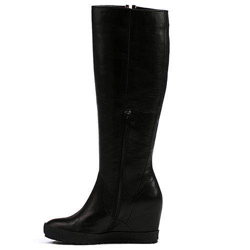Сапоги женские Modus Vivendi черного цвета на скрытой платформе, фото