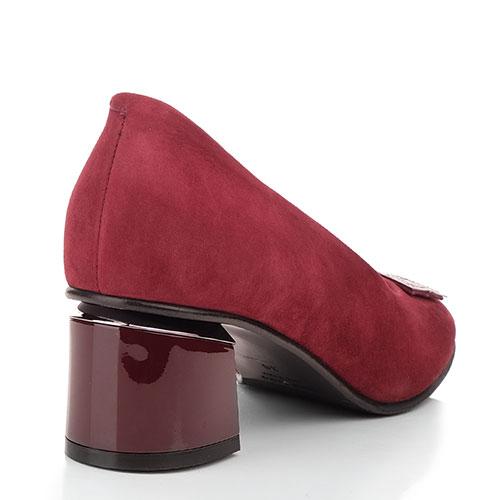 Бордовые туфли Marino Fabiani с декором на носке, фото