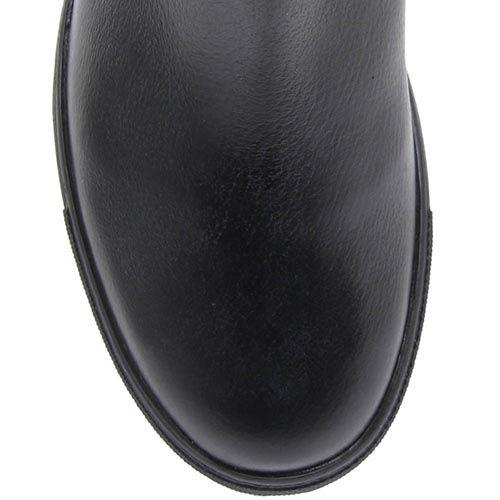 Сапоги Richmond из кожи черного цвета украшены узором в виде британского флага из страз, фото
