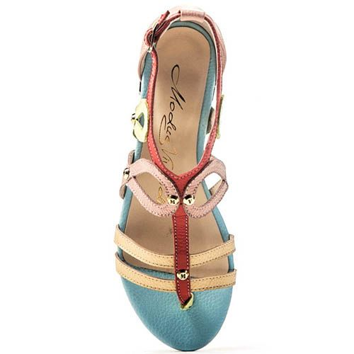 Сандалии Modus Vivendi в пастельных цветах и плетением в виде петель, фото