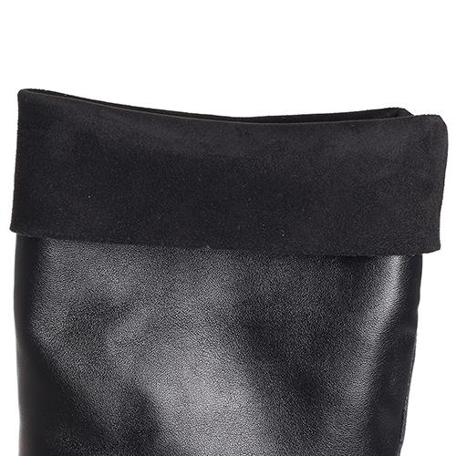 Черные сапоги Fru.It с серебристым каблуком, фото