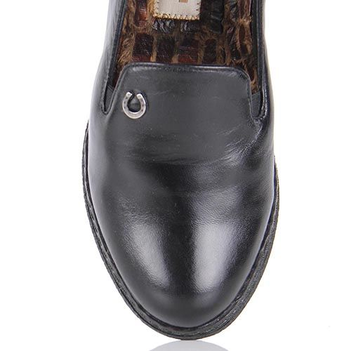 Туфли Pakerson из натуральной кожи черного цвета на термоутеплителе, фото