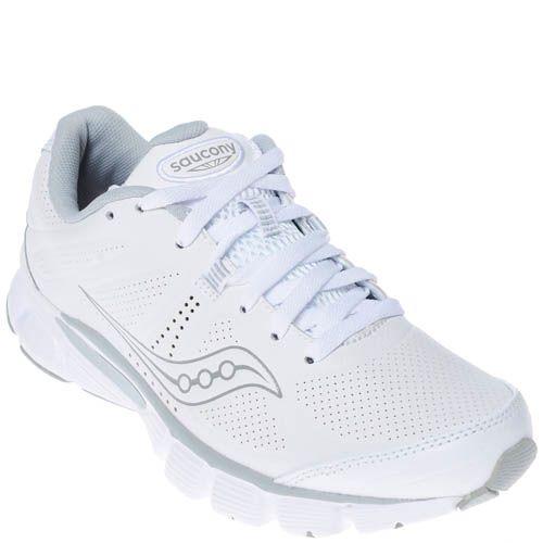 Кроссовки Saucony Powergrid Motion Le White Grey белого цвета, фото
